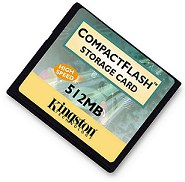 Kingston CompactFlash-Karte Typ I, 512 Mbyte [Foto: Kingston]