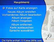 Armchair TV Photo Album - Menü [Foto: MediaNord]