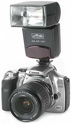 Canon EOS 300D mit Metz mecablitz 44AF [Foto: MediaNord]