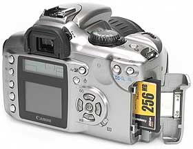Canon EOS 300D - Speicherplatz [Foto: MediaNord]