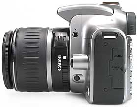 Canon EOS 300D - linke Kameraseite [Foto: MediaNord]