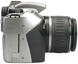 Canon EOS 300D - rechte Kameraseite [Foto: MediaNord]