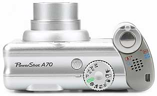 Canon PowerShot A70 - oben [Foto: MediaNord]