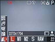 Canon PowerShot G3 - Menü Auflösung [Foto: MediaNord]