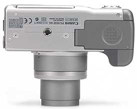 Canon PowerShot G3 - unten [Foto: MediaNord]
