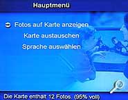 Dazzle TV Photo Show - Menü [Foto: MediaNord]
