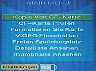 Delkin eFilm PicturePad - Menü 1 [Foto: MediaNord]
