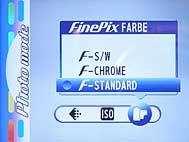 Fujifilm FinePix F700 - Menü 1 [Foto: Fujifilm]