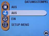 Kodak DX6490 Zoom - Menü-Bildschirm [Foto: MediaNord]