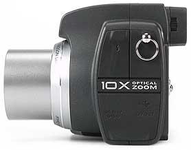 Kodak DX6490 Zoom -linke Kameraseite [Foto: MediaNord]