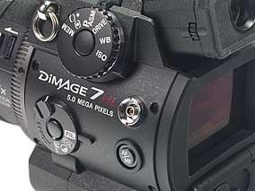 Minolta Dimage 7Hi - Synchronbuchse [Foto: MediaNord]
