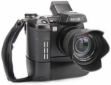 Minolta Dimage A1mit Batteriegriff BP-400 [Foto: MediaNord]