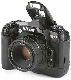 Nikon D100 mit Objektiv AF Nikkor 50 mm 1,8 D [Foto: MediaNord]