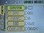 Olympus C-750 Ultra Zoom - Menü 1 [Foto: MediaNord]