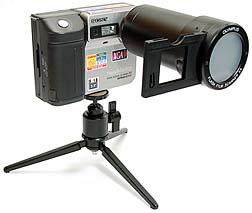 Olympus Flash Film Scanner 35 an Sony Mavica MVC-FD81 [Foto: MediaNord]