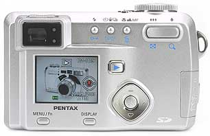Pentax Optio 550 - Rückansicht [Foto: MediaNord]