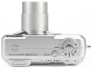 Pentax Optio 550 - oben [Foto: MediaNord]