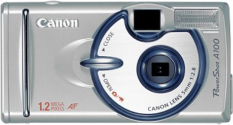 Canon PowerShot A100 Frontseite [Foto: Canon]