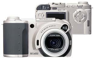 Fujifilm MX-2900 Zoom Front- und Rückansicht