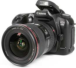 Canon EOS D60 mit Pop-Up-Blitz [Foto: MediaNord]