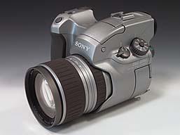 Sony DSC-D700 Front-/Seitenansicht; Foto: MediaNord