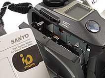 Sanyo IDC-1000Z - Detail mit geöffnetem Diskettenfach [Foto: MediaNord]