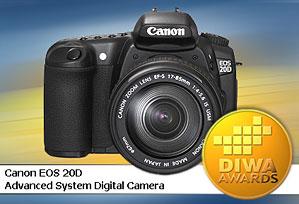 DIWA-Goldmedaille für Canon EOS 20D [Foto: DIWA]