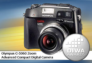 DIWA-Award für Olympus C-5060 Zoom [Foto: DIWA]