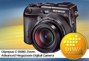 DIWA-Award für Olympus C-8080 Zoom [Foto: DIWA]