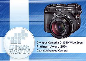 DIWA Platin Award für Olympus C8080 [Foto: DIWA]