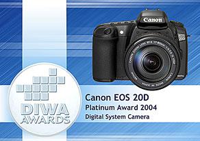 DIWA Award für Canon EOS 20D  [Foto: DIWA]