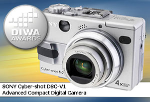 DIWA-Award für Sony DSC-V1 [Foto: DIWA]
