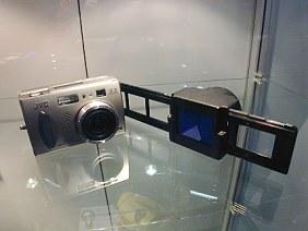 JVC GC-X3 mit Dia-Kopiervorsatz [Foto: JVC]