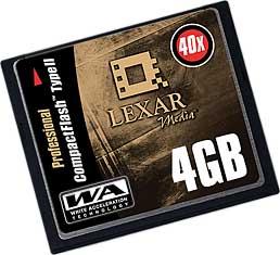 Lexar Media CompactFlash 4 Gbyte [Foto: Lexar Media]