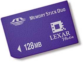 Lexar Memory Stick Duo 128 MByte [Foto: Lexar Media]