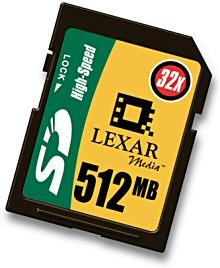 Lexar SD-Card 512 Mbyte [Foto: Lexar]