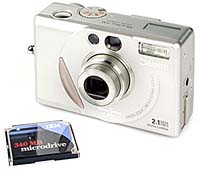 Canon PowerShot S10 mit IBM Microdrive 340 MB [Foto: MediaNord]