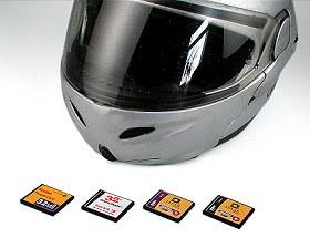 CompactFlash- Karten im digitalkamera.de-Geschwindigkeitstest [Foto: MediaNord]