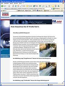 IM.bild-Akademie Online-Schulung zur Digitalfotografie [Screenshot: MediaNord]