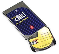 Iomega Clik! PC-Card Laufwerk mit Clik! Speichermedium