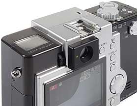 Leica digilux 1, Rück-Detailansicht [Foto: MediaNord]