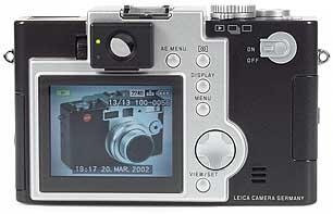Leica digilux 1, Rückansicht [Foto: MediaNord]