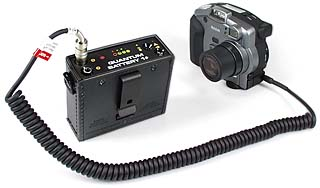 Quantum Battery QB 1+  mit Kodak DC290 [Foto: MediaNord]