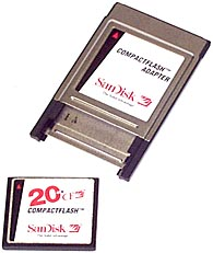 SanDisk CompactFlash mit PC-Card-Adapter