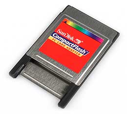 SanDisk PC-Card-Adapter für CompactFlash [Foto: MediaNord]