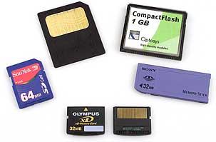 Verschiedene Speicherkarten für Digitalkameras [Foto: MediaNord]