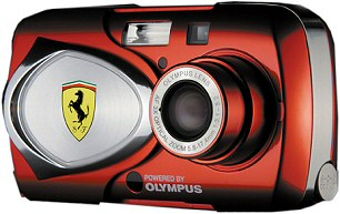 Olympus µ[mju] 400 Digital Ferrari-Sonderedition [Foto: Olympus]