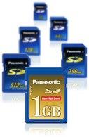 Panasonic SD-Card mit 1 GByte [Foto: Panasonic]