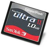 SanDisk Ultra-II-CompactFlash-Karte [Foto: SanDisk]