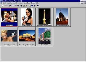 Jasc Media Center Plus - Arbeitsoberfläche [Screenshot: MediaNord]